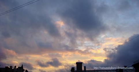Clouds at sunset by NatsuMi69Kuroi