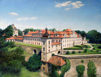 Castle of Rychnov by joseph-art