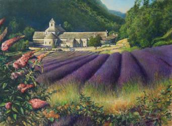 l'Abbaye de Senanque Provence France by joseph-art