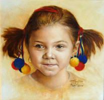Portrait of the little Kate by joseph-art