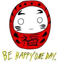 Be Happy, Daruma by Froggy-Spaztastic