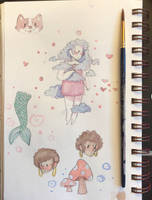 + watercolor sketch page + by 0cean-adopts