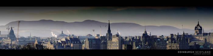 Edinburgh Skyline by mortimea
