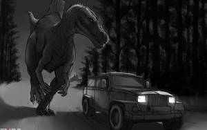 Spino Chase WIP by SilverTES