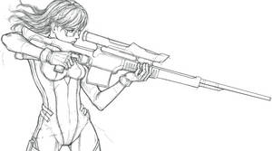 Sniper Sketch WIP by SilverTES