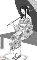 Commission : kimono girl by SilverTES