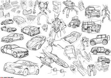 Mecha Design Exercises by SilverTES