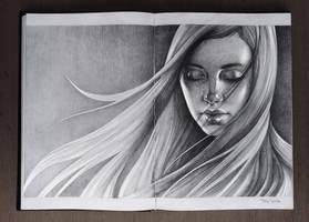Girl. Sketchbook by sashajoe