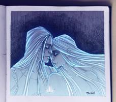 Lia and Matt. Sketch by sashajoe