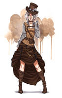Steampunk girl by sashajoe