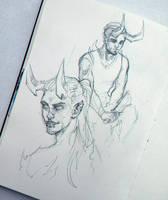Sketch | Horny guys by sashajoe