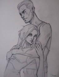 Sketch | Nikky x Jason by sashajoe