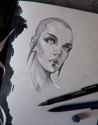 Sketch | Flying head by sashajoe