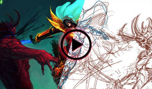 Demon Hunter - speed painting by saint-max