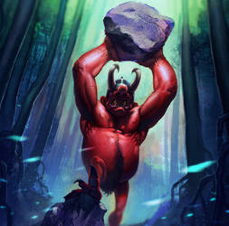Red Troll (alternative card)  ~ Faeria ~ by saint-max