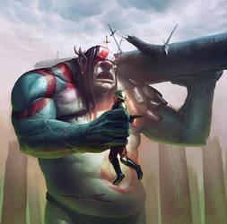 Ogre Battler  ~ Faeria ~ by saint-max