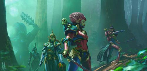Commission: Jungle Hunt by saint-max