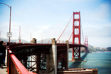 Golden Gate Bridge Side View by richardxthripp