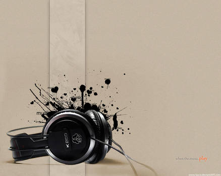 when.the.music.play -wallpaper by Soczi