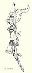 sketch - beautiful archer by dmazcobonx