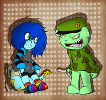 Flippy and Shiver by DreamLanding