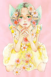 Flower fairy by totosoramame
