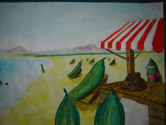 the Cucumbers day at the beach by shoust