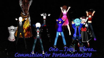 MMD Creepypasta - Commision for portalmaster298 by Stormtali