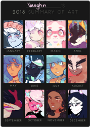 2018 Art Summary by viva-la-vaughn