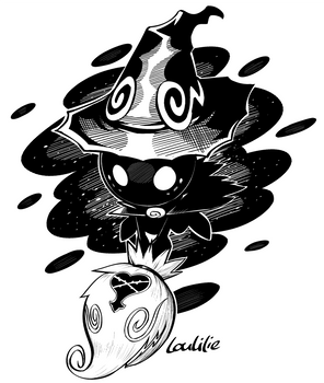 Inktober2018-Day 14 - Shadow Witch by LouLilie