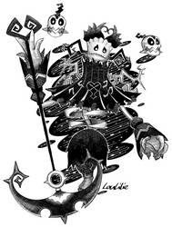 Inktober2018-Day 27 - Cursed Grim Reaper by LouLilie