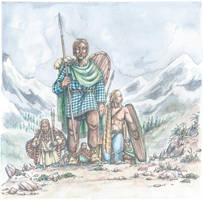 Gaesatae crossing the Alps by Curundil