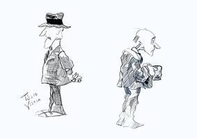 Ink pen exercises: Old Men by Tulio-Vilela