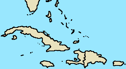 Blank Map The Greater Antilles By Galacticpenguintv On Deviantart