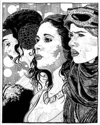 the Ladies of Star Wars by CEZacherl