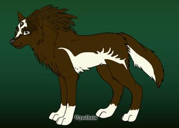 Talon as a Wolf (Twilight Form) by Talongrasp