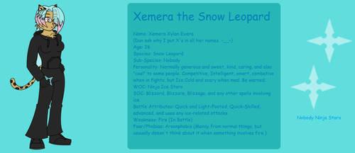 Xemera the Snow Leopard (Krystal's Nobody) by Talongrasp