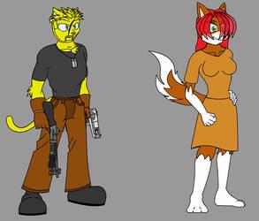 Thomas and Sophia - Amy's Parents by Talongrasp