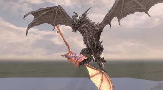 Dragon Photobomb! by tiffawolf