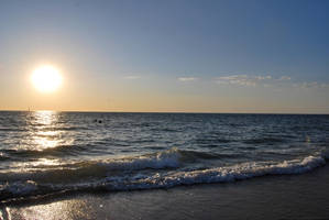 Beach Sunset Stock 4 by HymnsStock