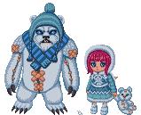 Frostfire Annie pixel by Estarry