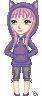 Marisa cat hoodie by Estarry