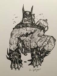 Inktober Day #3 - Gorilla Batman by DrewCopenhaver