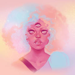 Cotton Candy Garnet by TeacupArt