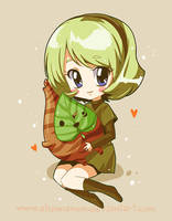 Saria and a Korok by CplSquee