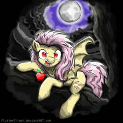 Bat At The Moon by FlutterThrash