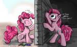 Pinkie's Wall by FlutterThrash
