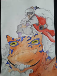Jiraiya on a frog! by lepafox
