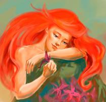 Ariel sketch by BlueLarch