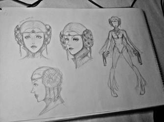 Ancient Jeanne sketch by ButterflyInMaze